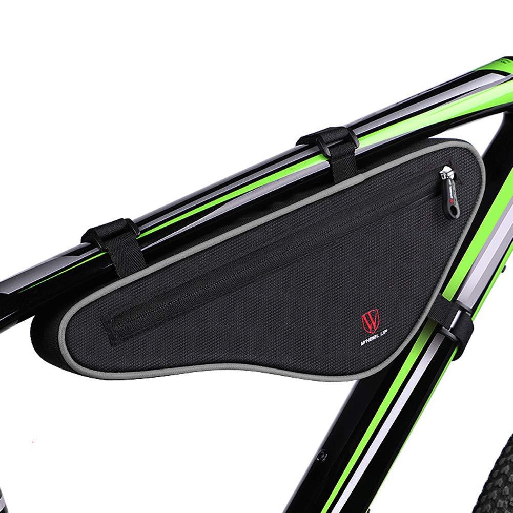Grande capacit/é R/éfl/échissant VTT Sacoches Triangle Cyclisme V/élo Sac Avant de v/élo t/ête de Fermeture /éclair jEZmiSy Sacoche de Cadre v/élo