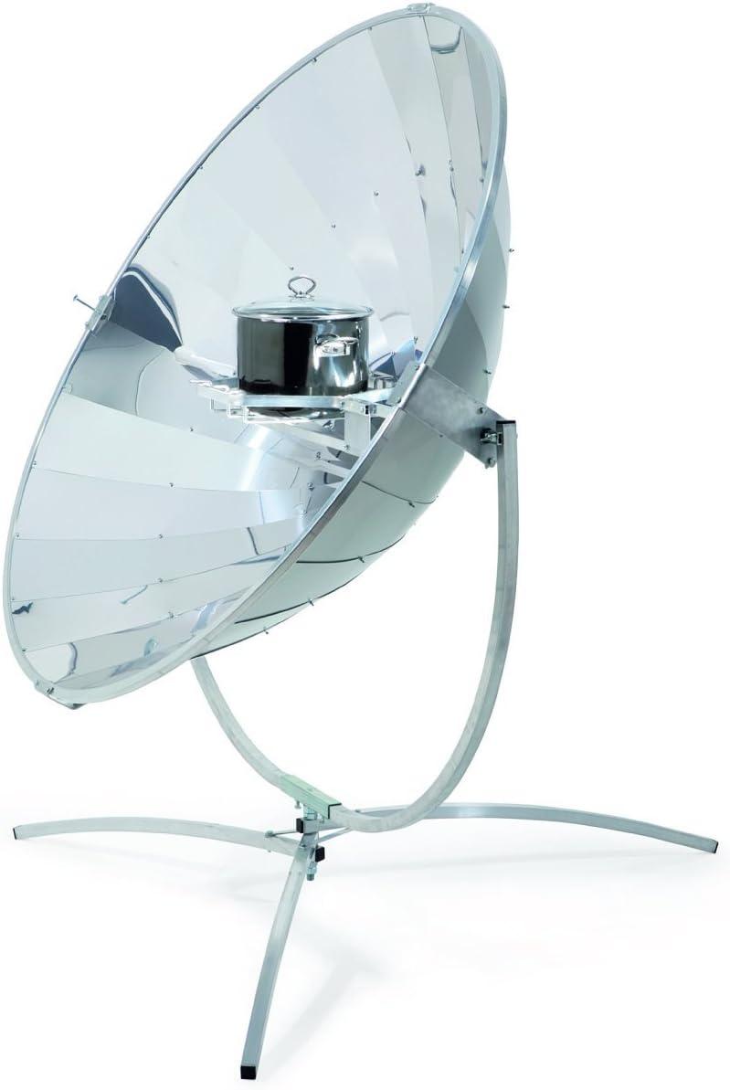 ERRO Estufa solar, estufa solar de 140 cm. Espejo parabólico solar de gran calidad con 700 W de potencia máx.