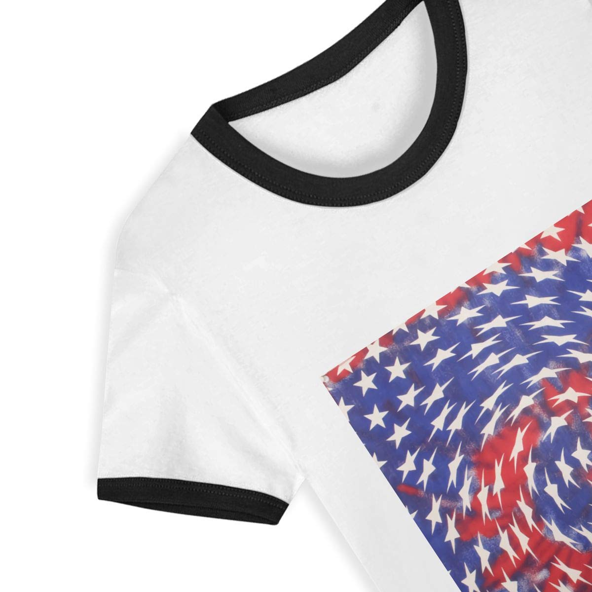 EVAGIBBONS USA American Flag Child Leisure Cute Fashion Life T Shirt