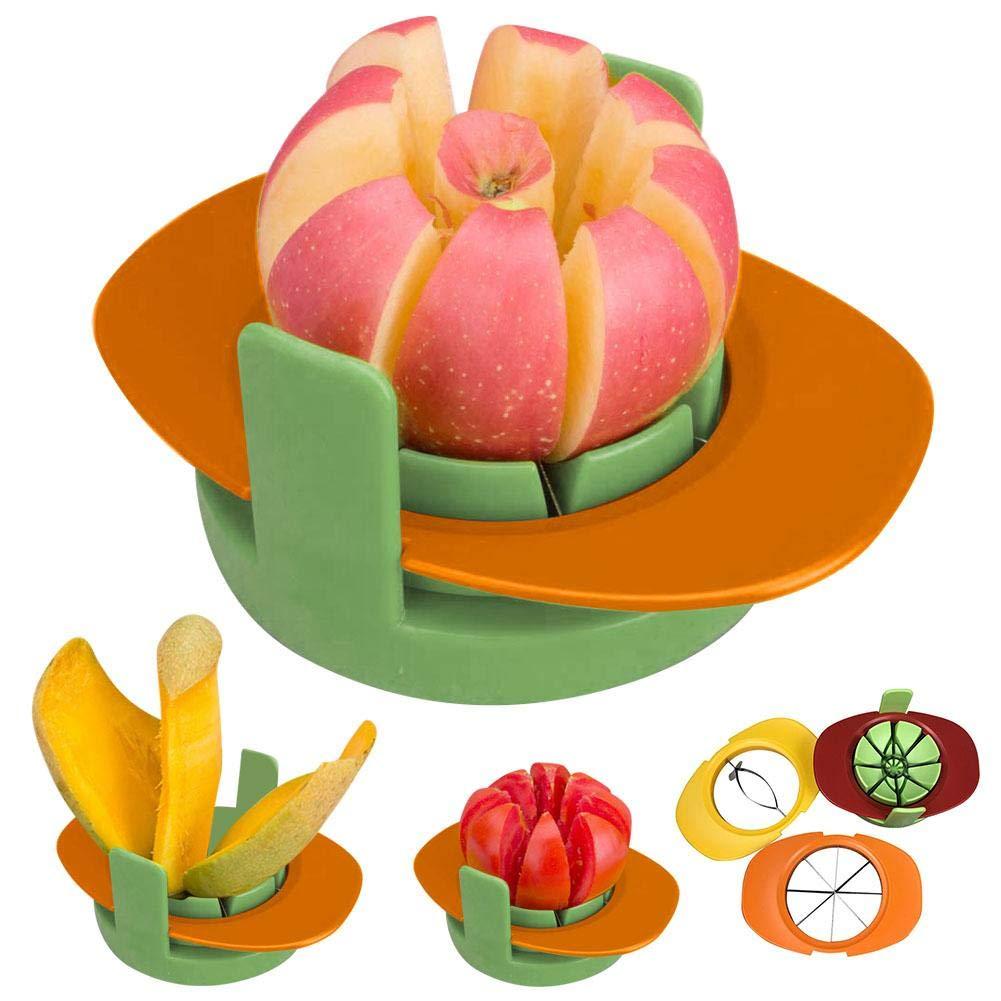 wonderfulwu Fruit Slicer 4-in-1 Multi-Function Fruit Slicer Pear Tomato Orange Pitaya Mango Vegetable Slice Mold Cutter with Practical Home Kitchen Tool by wonderfulwu