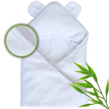 Luna y bebé con capucha toalla de baño, fabricado con fibras de bambú Natural para