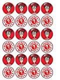 24 Where's Wally Cupcake toppers