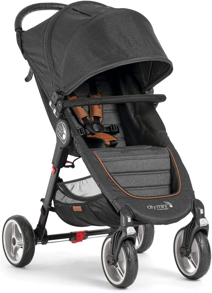 Cochecito Baby Jogger City Mini 4 Décimo Aniversario BJ2051657 con barra delantera incluida y sistema de doblado a una mano Quick-Fold