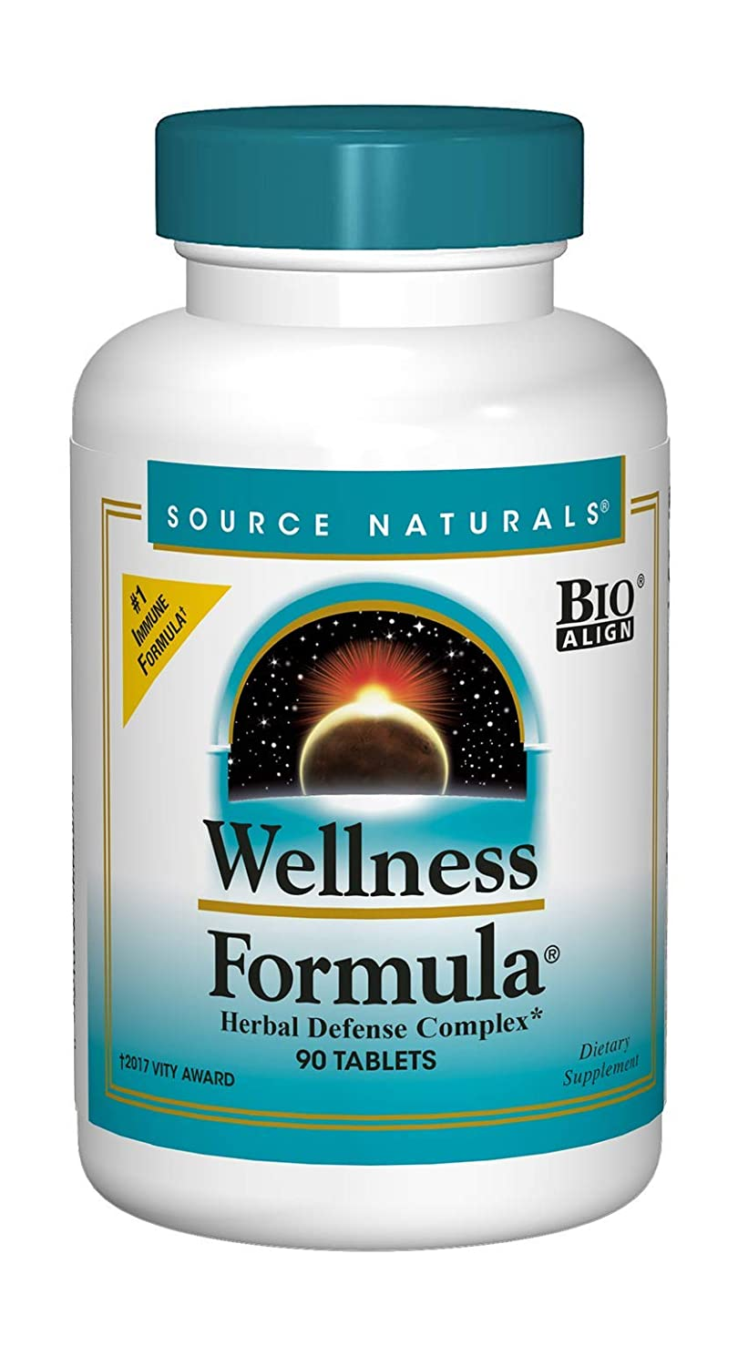 Source Naturals Wellness Formula Bio-Aligned Vitamins Herbal Defense – Immune System Support Supplement Immunity Booster – 90 Tablets