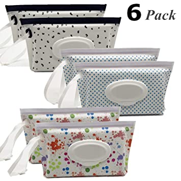 Style 5 Wet Wipe Pouch Baby Wipe Case Holder Dispenser Refillable Moist