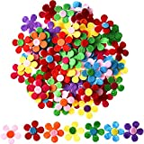 Arts & Crafts : Sumind 100 Pieces Felt Flowers Fabric Flower Embellishments for DIY Crafts, Assorted Colors