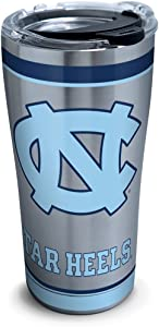 Tervis 1297817 North Carolina Tar Heels Tradition Insulated Travel Tumbler with Lid 20oz - Stainless Steel, Silver