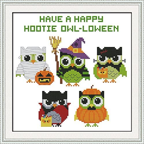 1 Stamped Cross Stitch Kits 14CT Pre-Printed Painting Cross Stiching DIY Art Crafts /& Sewing Needlepoints Kit for Home Decor Interesting Halloween