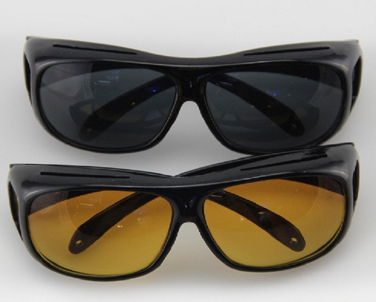 1ebcbb124ed Amazon.com   2Pcs HD Night Vision Ultra Sunglasses   Sports   Outdoors