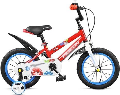 MAZHONG Bicicletas Bicicleta roja y amarilla Niño Niño 3-6 años ...
