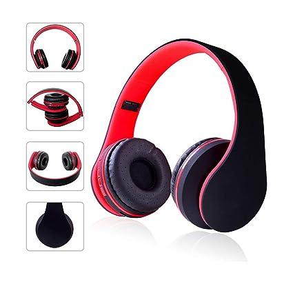 Auriculares Bluetooth Inalámbrico Over-EAR Auricular Estéreo De Alta Fidelidad Plegable, Orejeras Ajustadas,