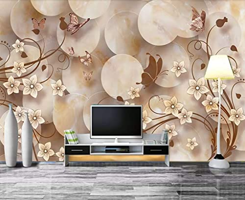 Amazon Com Muraviewall 3d Colorful Flower Wallpaper Soft Package Stereo Tv Background Hotel Living Room Tv Sofa Mural Children Bedroom Peel And Stick I Custom Size Handmade
