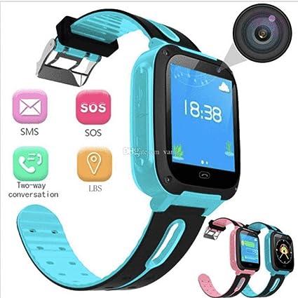 Hello22 Kids GPS Smartwatch, 1.44 inch Touch Anti-Lost Smart Watch for Children Girls Boys with Camera SIM Calls SOS Smartwatch Bracelet