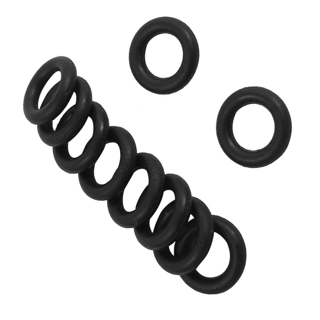 Globalflashdeal 10 Stueck Schwarz Gummi Oil Seal O-Ringe Dichtungen Unterlegscheiben 40x35x2.5mm