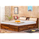 Furny Oberoi Teak Wood King Size Bed with Storage Teak from Ghana | 20+ Years Life with FURNY Assurance | Termite & Bore Treated | Customization & EMI Available