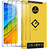 CENTAURUS for Redmi Note 5 Glass Screen Protector,(3 Pack) Anti-Fingerprint Anti-Scratch HD Hardness Shatter Proof Tempered Glass Protective Film Fit Xiaomi Redmi Note 5 (6.0 inch)