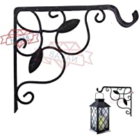 NAYAB Hanging Planters Iron L Bracket Wall Ceiling Hook Without Pots/L-Angle Flower Plant Stand Holder Bird Feeder Wind Chime Lanterns Hanger