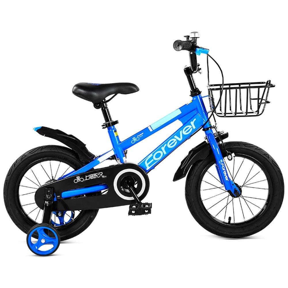 Blau 16in Axdwfd Kinderfahrräder Kinderfahrrad mit Stützrädern , 2-9 Jahre altes männliches Kind Fahrrad 14.12.16.18 Zoll Kinder Radfahren