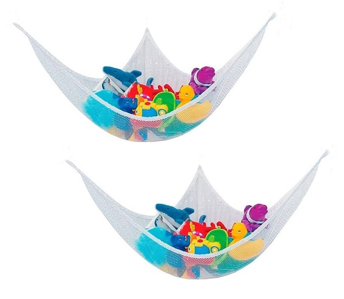 O-Best 2 Pack Toy Hammock Organizer Storage Mesh Net for Children's Stuffed Animals Toys Ideal Solution for Gathering Stuffed Dolls Large