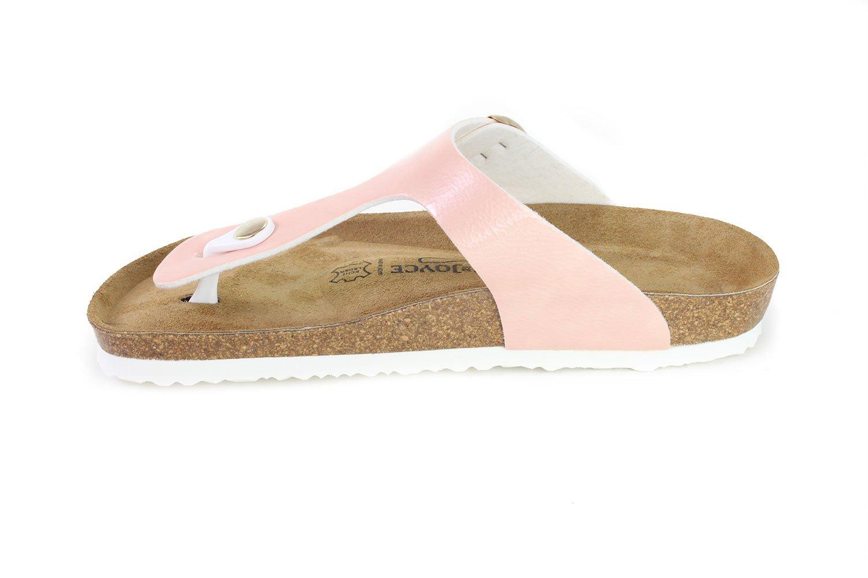 JOE N JOYCE Women Rio Soft-Footbed Metallic SynSoft Sandals Slippers B0786D146K 41 EU (10 M US Women/8 M US Men)|Rose Softbedded