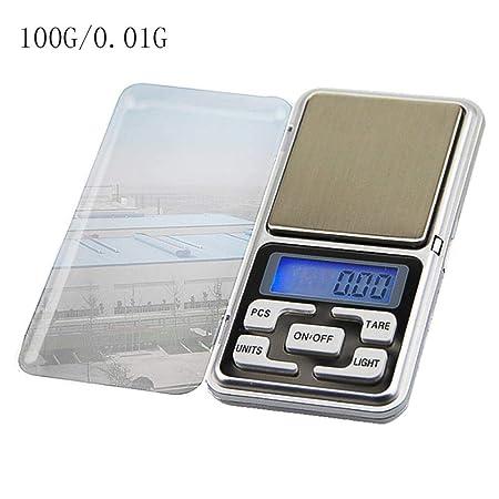 Escala de bolsillo Mini Pantalla LCD Digital electrónica portátil para pesar joyas