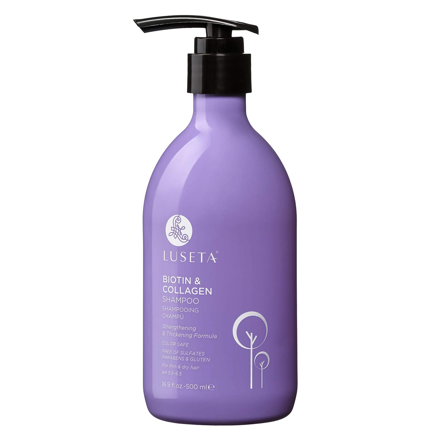 Luseta Biotin & Collagen Shampoo Thicking Shampoo for Hair Loss & Fast Hair Growth, Sulfate & Paraben Free, Keratin & Color Safe, 500ml by L LUSETA