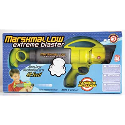 Marshmallow Fun Company Marshmallow Shooter Extreme Blaster Green & Gray Color with Targets, Multi: Toys & Games