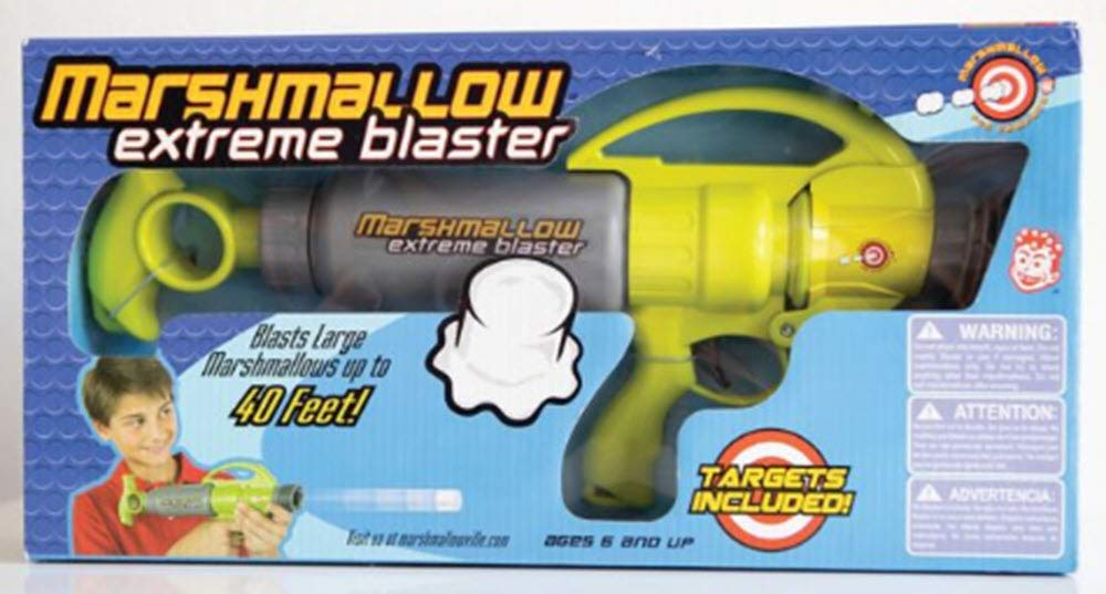 Marshmallow Shooter Extreme Blaster Green and Gray Color With Targets