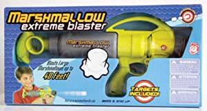 Marshmallow Fun Company Marshmallow Shooter Extreme Blaster Green & Gray Color with Targets, Multi