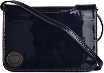 e3022a7150 Christian Louboutin Womens Black Patent Leather Shoulder Bag~Retail $1200