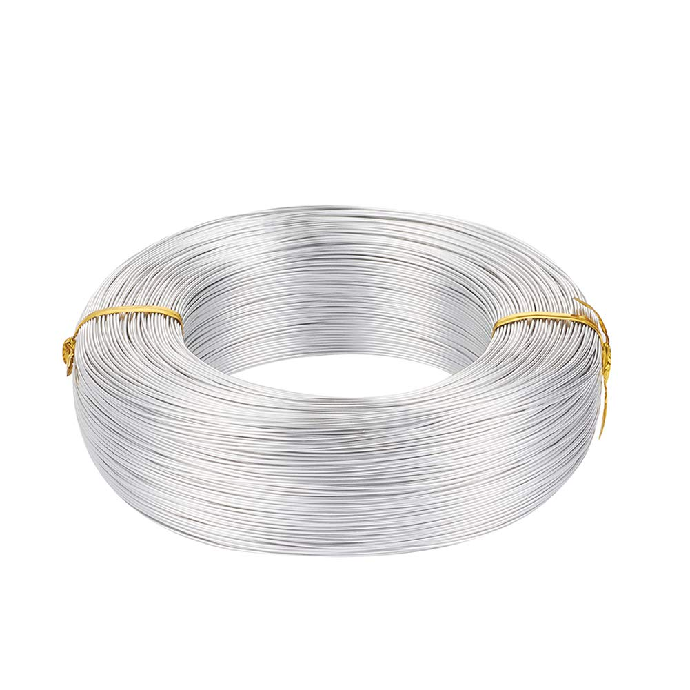 Pandahall 656 Feet Silver Aluminum Craft Wire 20 Gauge Flexible Metal Wire for Jewelry Making by PH PandaHall