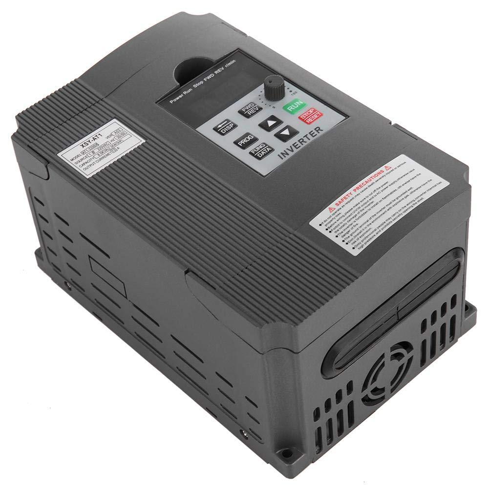 Entra/înement /à fr/équence variable VFD 220V 12A 2.2KW Contr/ôleur de vitesse dinverseur de convertisseur de fr/équence monophas/é Pour le contr/ôle de la vitesse du moteur