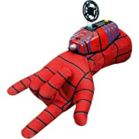 Macy Ultimate Spiderman Gloves with Disc Launcher for Kids (Red)