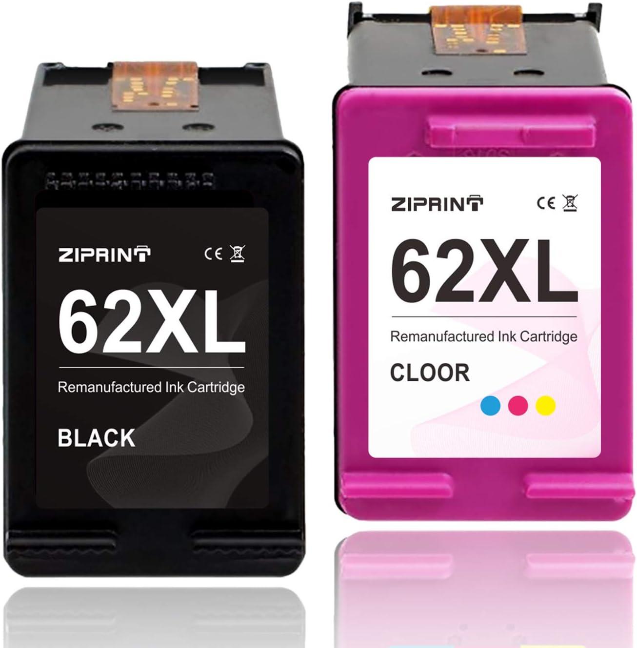 ZIPRINT Compatible HP 62XL HP 62 XL Cartucho 2 Multipack para HP OfficeJet 5740 5742 5744 5745 5746 eAIO Envy 7640 7645 8000 8005 5640 5642 5643 5644 5646 5660 5665 eAIO Impresora: Amazon.es: Electrónica