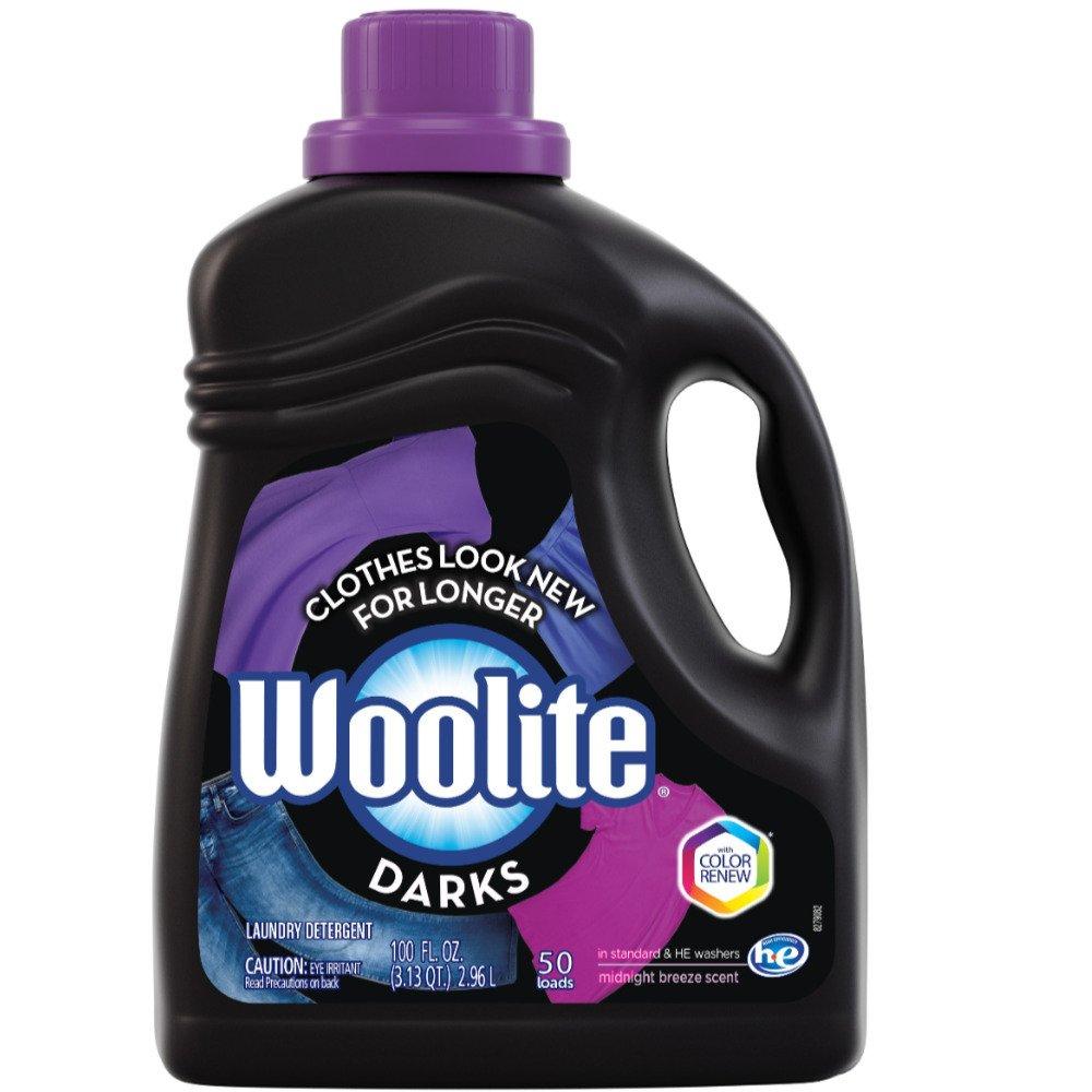Woolite Dark Care Laundry Detergent, Midnight Breeze Scent, 100 oz/ 50 loads (Pack of 9)