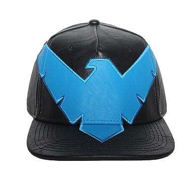 Bioworld Men s Licensed DC Comics Nightwing Suit Up PU Leather Snapback Hat e83e30cafa28