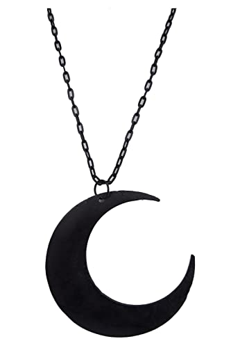 Amazon restyle goth occult gothic luna large crescent moon restyle goth occult gothic luna large crescent moon matte black occult witch necklace aloadofball