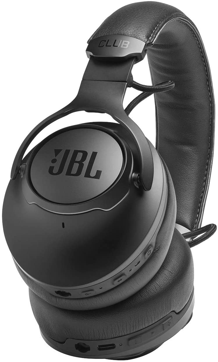 JBL CLUB ONE - Premium Wireless Over-Ear Headphones with Hi-Res Sound Quality Adaptive Noise Cancellation and EQ Customization - Black