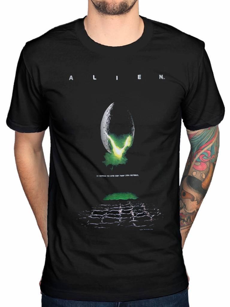 Official Alien Poster T-Shirt Ripley Ridley Scott Horror Film Movie