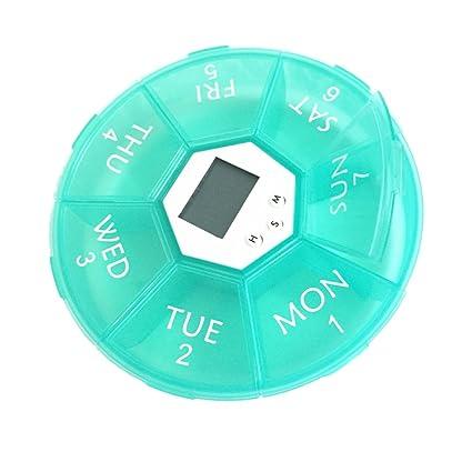 BESTOYARD Organizador de Píldora Digital Dispensador de Pastillas Automático Electronic 7 Días Organizador de Medicamento con