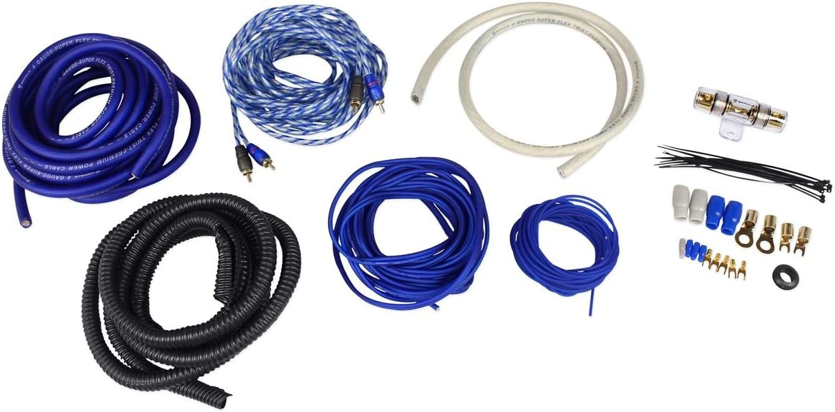 B019Z3RCLC Rockville RWK41 4 Gauge Complete Car Amp Wiring Installation Wire Kit w/RCA's 61wu1HF8mWL