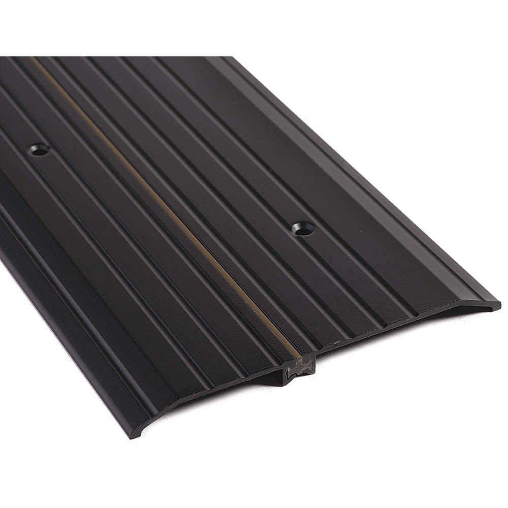 National Guard - 8427DKB-48 - 48 x 7 x 1/2 Fluted Top Door Threshold, Dark Bronze by National Guard
