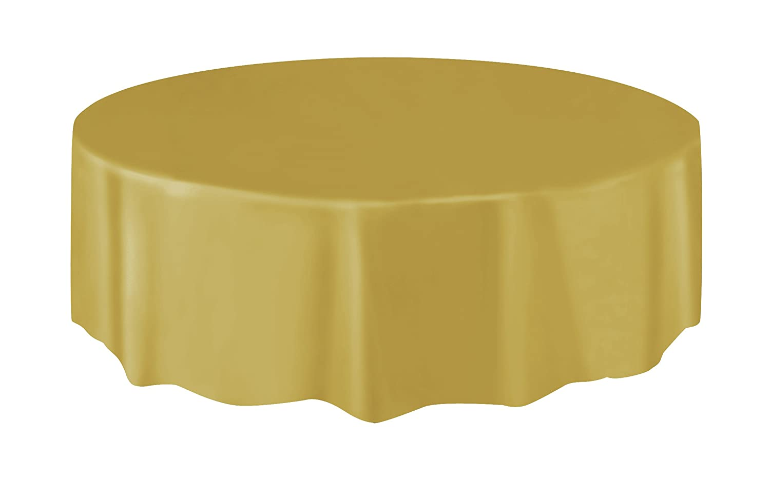 Round Black Plastic Tablecloth, 84