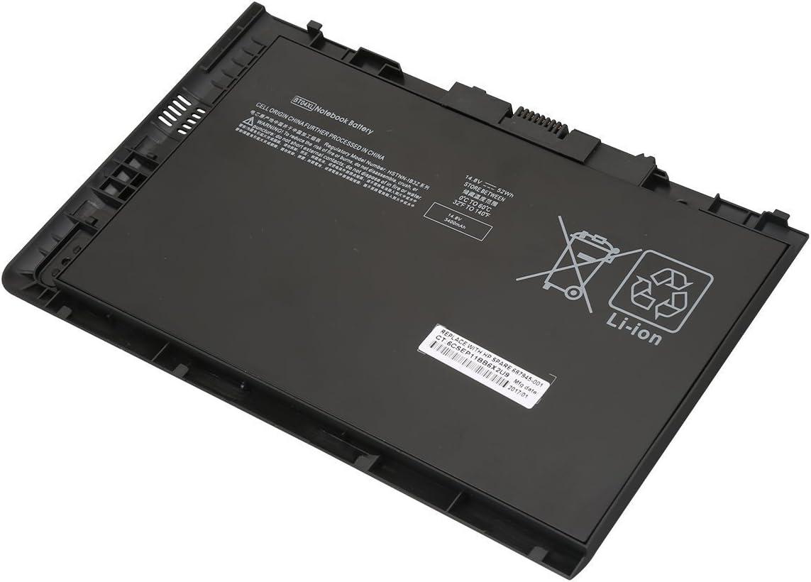 ANTIEE BT04XL 687945-001 Battery for HP Elitebook Folio 9470 9470M 9480M Notebook Series H4Q47AA HSTNN-IB3Z HSTNN-I10C BT04 BA06 BA06XL 687517-1C1 687517-171 14.8V 52WH