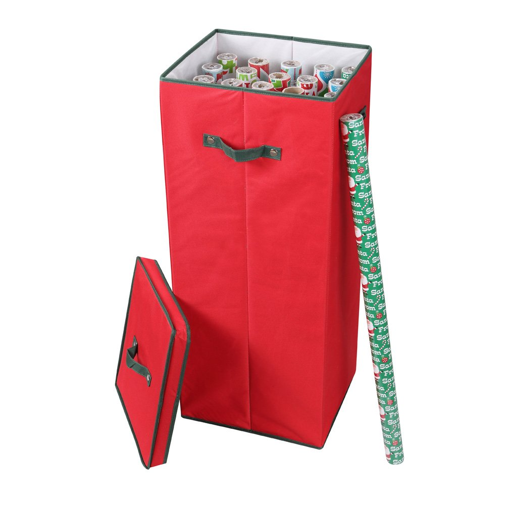 """Primode Wrapping Paper Storage Box with Lid 