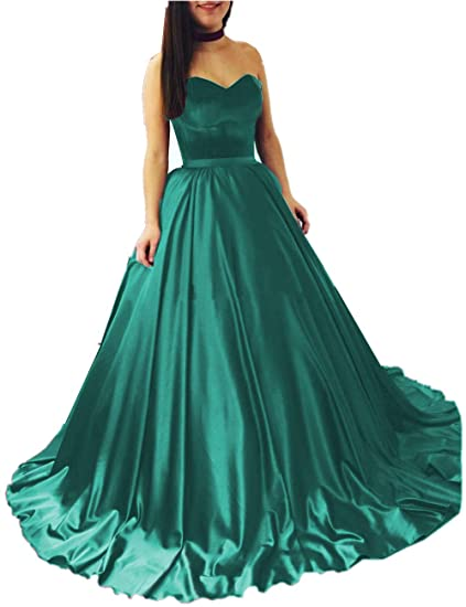 83bf3829cd86 Promworld Women's Strapless Evening Dress Stain Prom Formal Dress Long Plus  Size Aqua US2