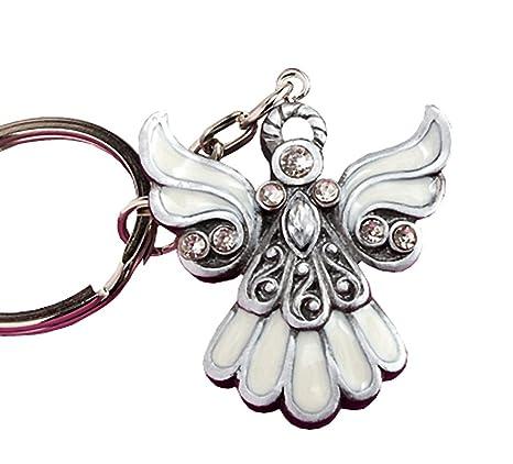 Amazon.com: Diseño de ángel llavero Favors, Plateado ...