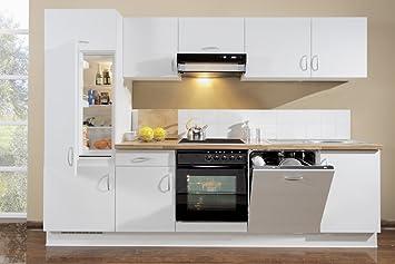 Bay Küchen Küchenzeile Malta Deluxe Inkl Elektrogeräte Einbau