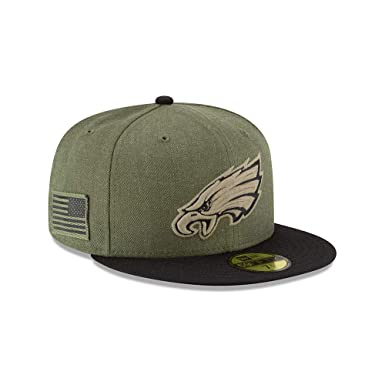 Amazon.com  New Era 59Fifty Hat Philadelphia Eagles On-Field Salute to  Service Green Fitted Cap  Clothing c438b8a671b