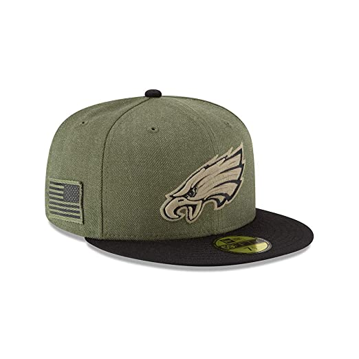 Amazon.com  New Era 59Fifty Hat Philadelphia Eagles On-Field Salute to  Service Green Fitted Cap  Clothing b8157478d